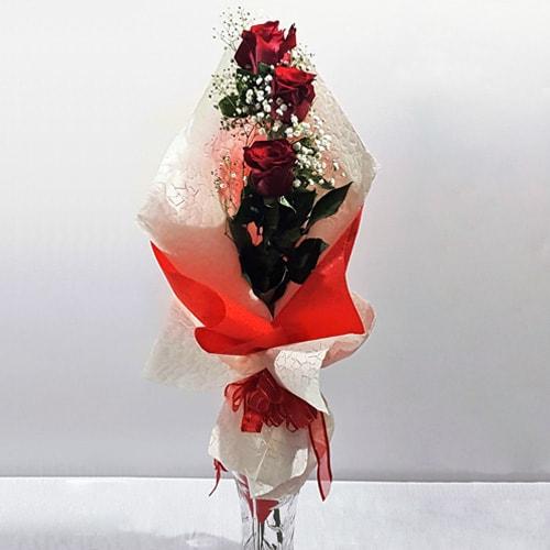 3 Piece Red Ecuador Rose