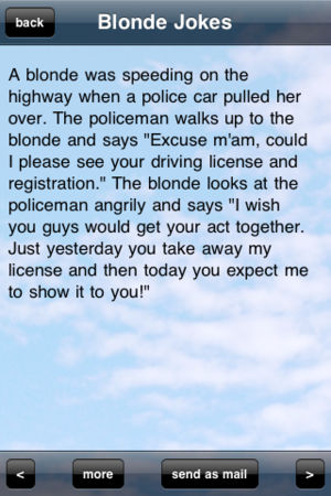 A Blonde Was Speeding