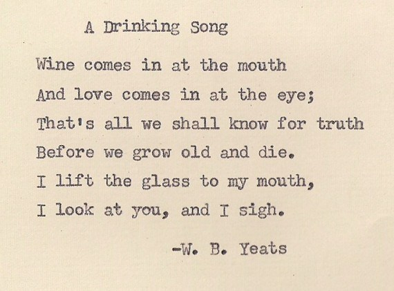 A Drinking Song