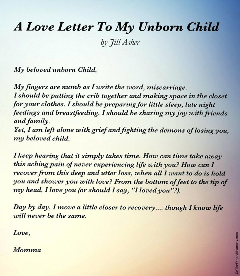 A Love Letter to my Unborn Child
