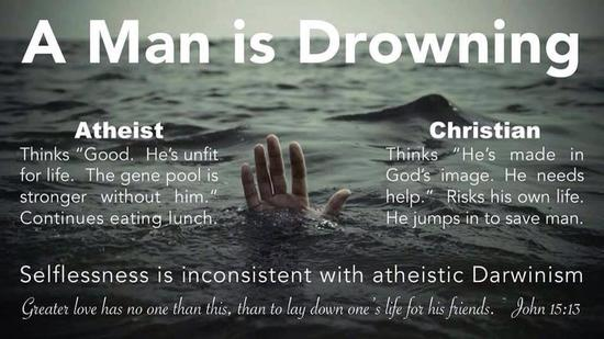 A Man Is Drowning