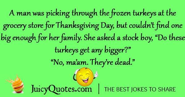 A Man Was Picking The Frozen Turkeys