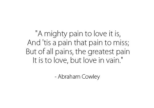 A Mighty Pain To Love