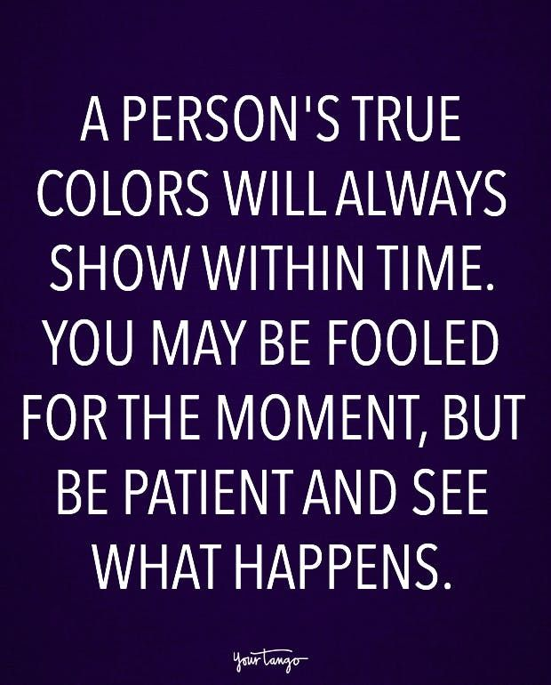 A Person's True Colors