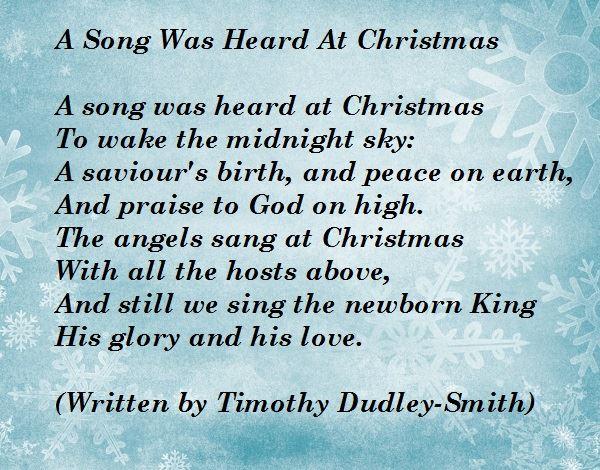 A Song Was Heard at Christmas