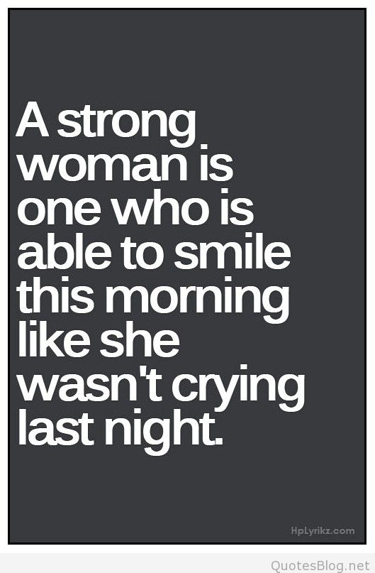 A Strong Woman Is One