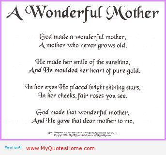 A Wonderful Mother