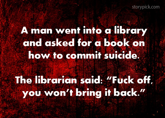 A Man Went Into A Library