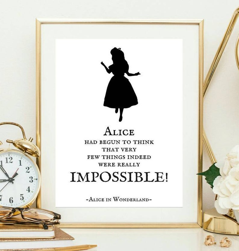 Alice Had Begun To Think