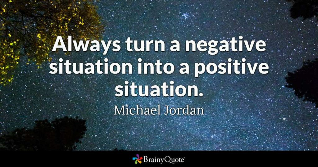 Always Turn A Negative