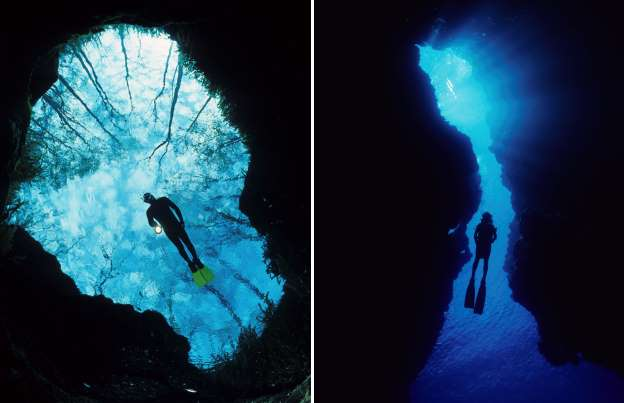 Amazing Underwater Caves
