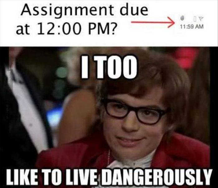 Assignment due at 12:00 PM