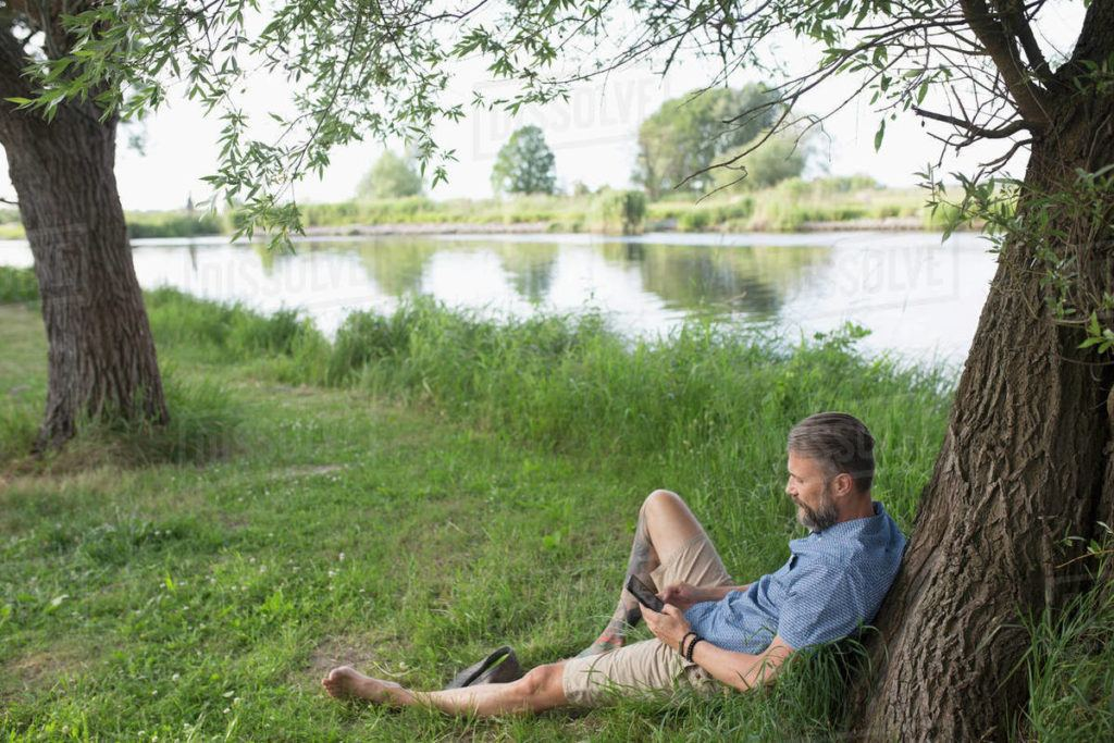 Barefoot Man Relaxing