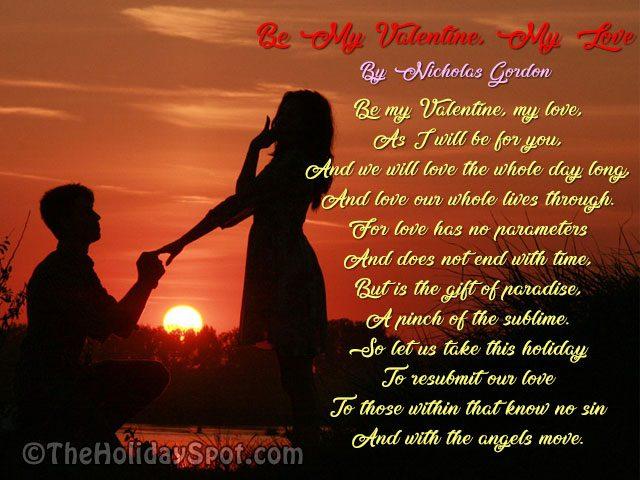 Be My Valentine My Love