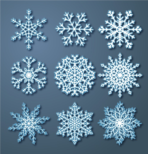 Beautiful Snowflake Pattern Vectors