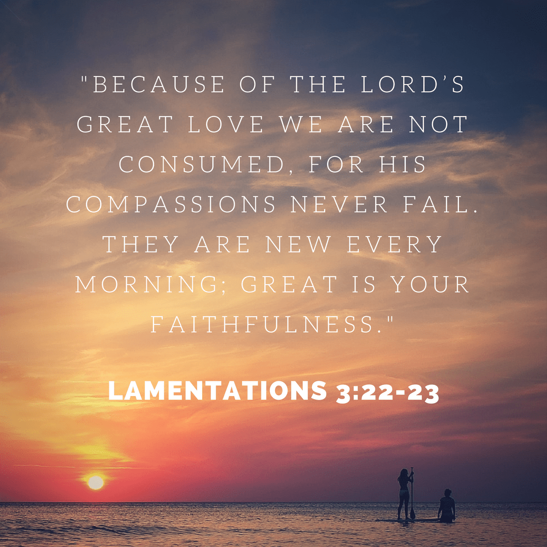 Because Of The Lord's Great Love