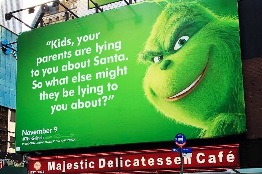 Billboard Of Grinch