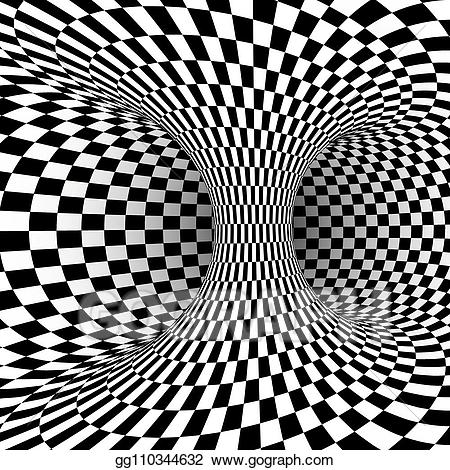 Black And White Optical Illusion Abstract