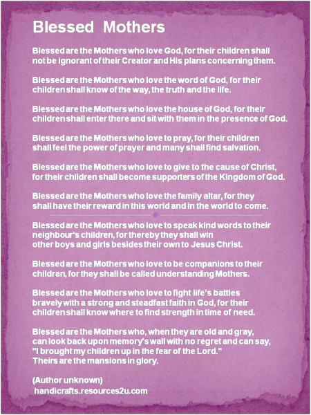 Blessed Mothers