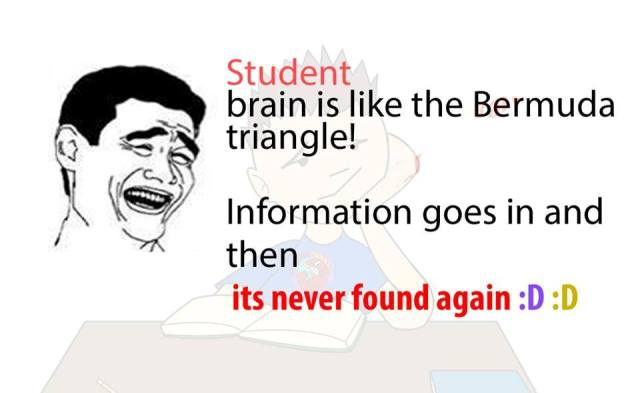 Brain is like the bermuda triangle