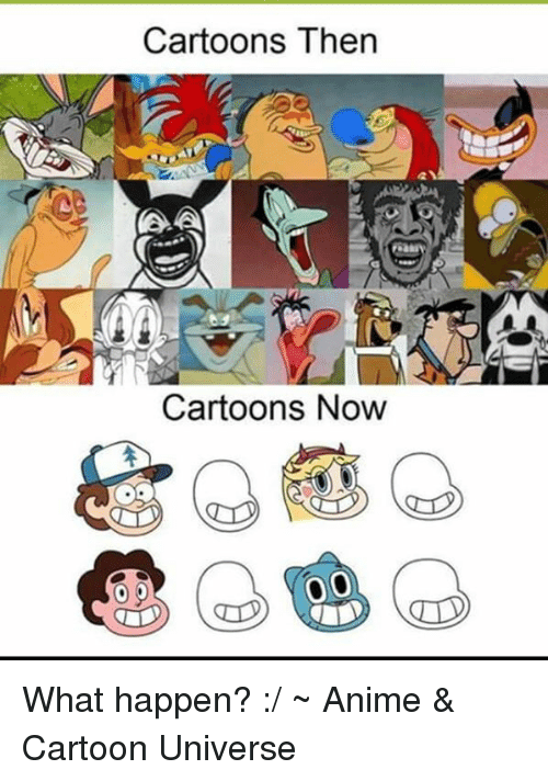 Cartoons Then