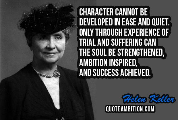 Character Cannot Be Developed