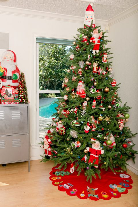 Christmas Tree Decorating Ideas Santa Doll