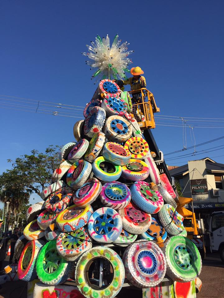 Christmas Tree Made In Wheels