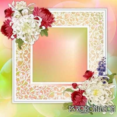 Chrysanthemum PSD Source Frame