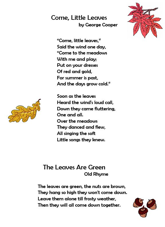 Come, Little Leaves