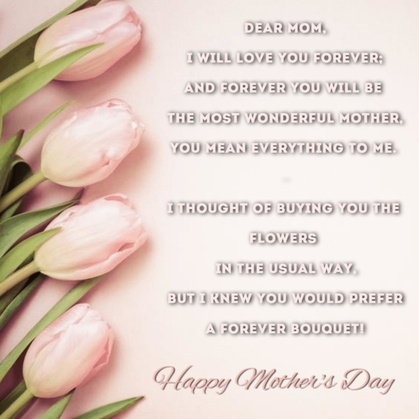 Dear Mom, Happy Mother's Day