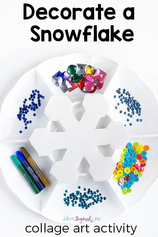 Decorate A Snowflake Winter Collage Art Craft Activity Pin