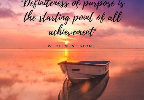 Definiteness Of Purpose