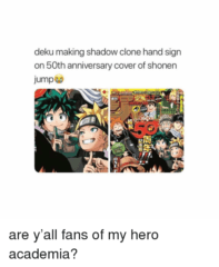Deku Making Shadow Clone
