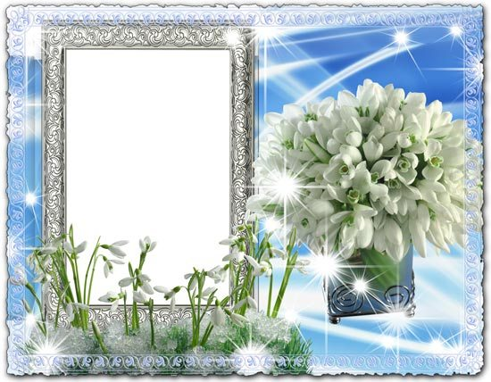 Delicate Snowdrops Photo Frame