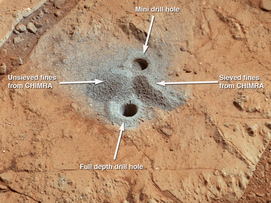 Drill Hole In Mars
