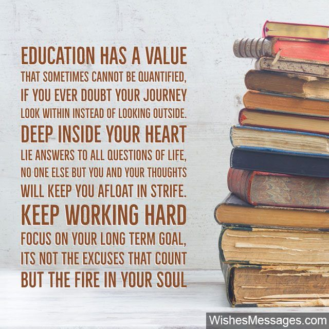 Education has a Value