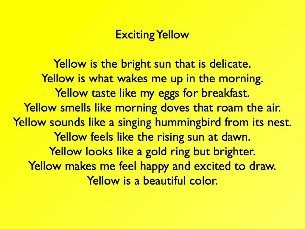 Exciting Yellow