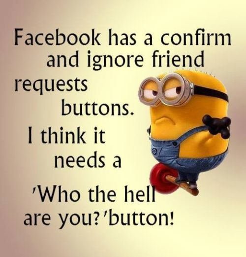 Facebook Has A Confirm And Ignore Friend