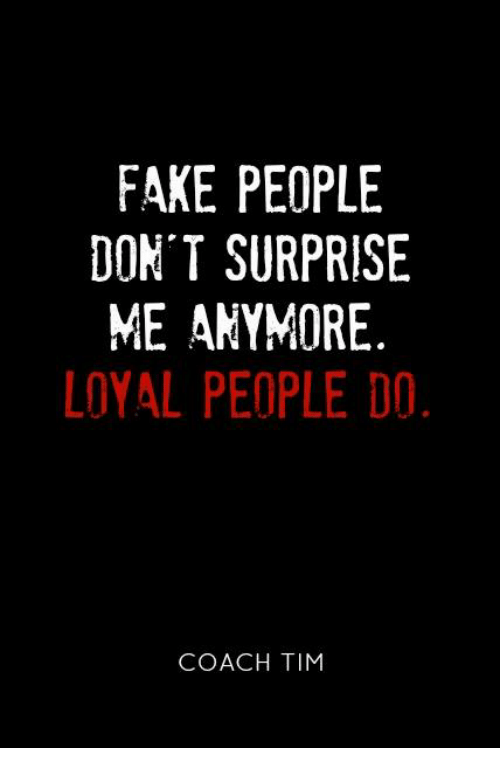 Fake People Don't Surprise