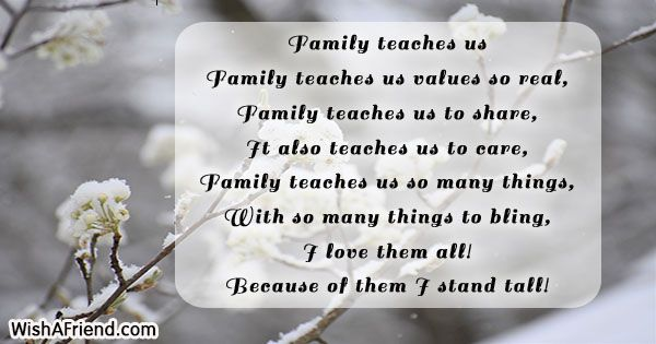 Family Teaches Us