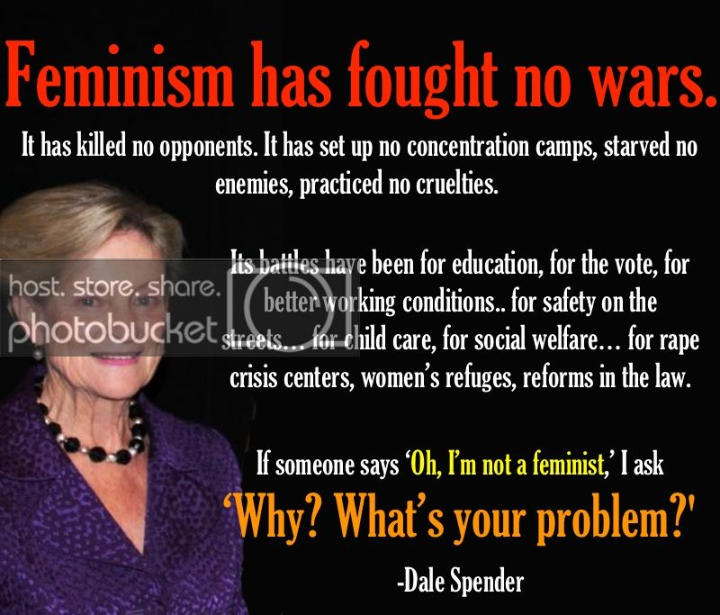 Feminism Has Fought No Wars