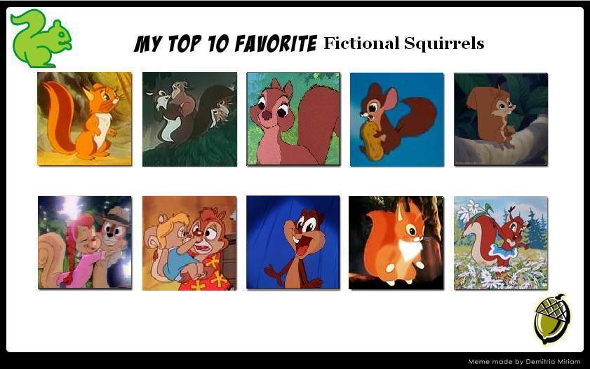 Fictional Squirrels