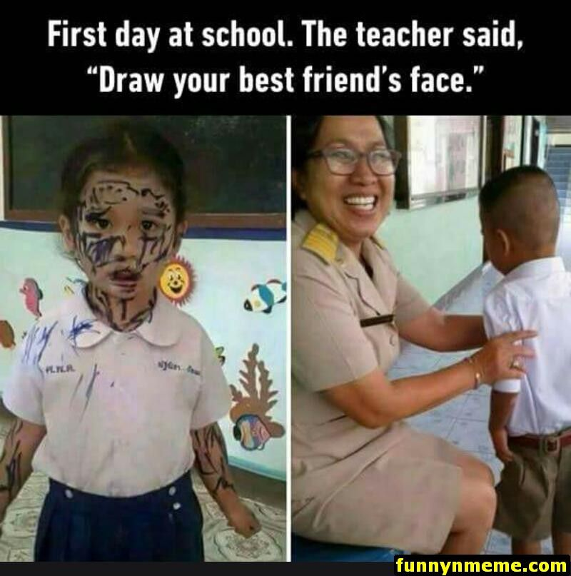 First day at school..