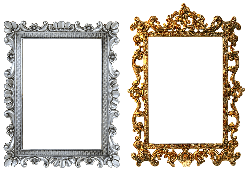 Frame Carved Gold Silver