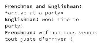 Frenchman and Englishman