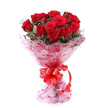 Fresh Red Bouquet Roses