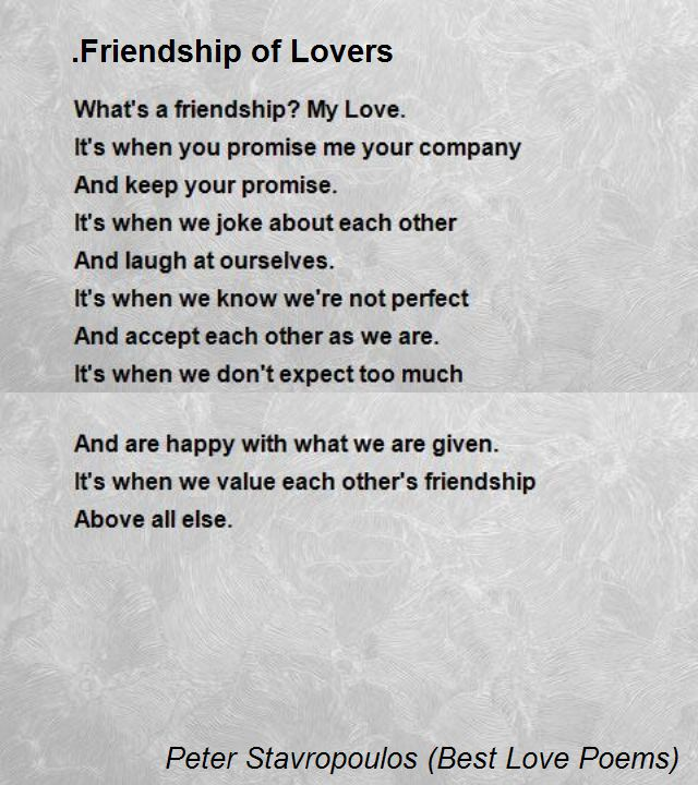 Friendship of Lovers