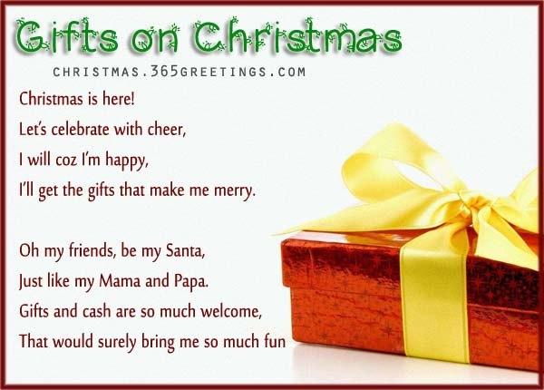 Gifts on Christmas