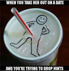 Giving hints during a date…